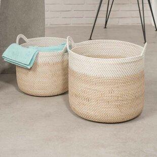 Wicker Laundry Basket Set By Beachcrest Home