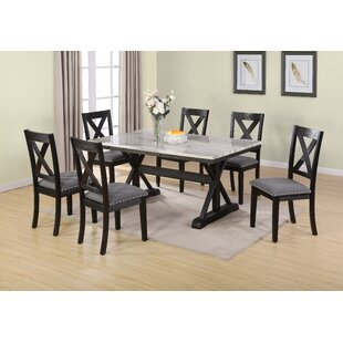 Leesa 7 Piece Dining Set DarHome Co