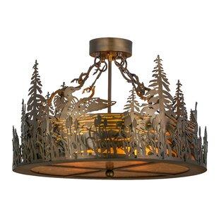 4-Light Semi-Flush Mount by Meyda Tiffany