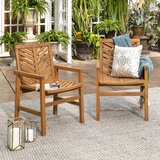 Skoog Chevron Patio Dining Chair (Set of 2) by Breakwater Bay
