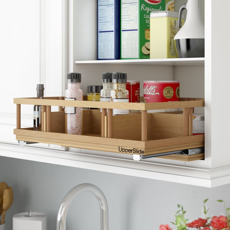 Superbe Upper Cabinet Spice Rack Caddy Large Pull Out Drawer