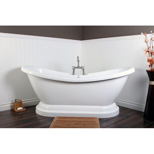 Find Aqua Eden 69'' x 28'' Freestanding Soaking Bathtub ByKingston Brass