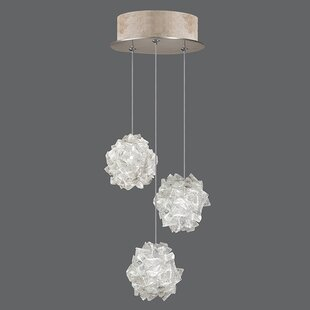 Natural Inspirations 3-Light Cluster Pendant by Fine Art Lamps