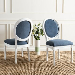 Anaya Upholstered Dining Chair (Set of 2) by Lark Manor SKU:DC982216 Check Price