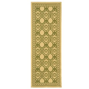 Short Natural/Olive Power Loomed Indoor/Outdoor Area Rug