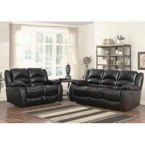 living room furniture sets leather. Jorgensen Leather 2 Piece Living Room Set Sets You ll Love  Wayfair