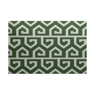 Montague Geometric Print Green Indoor/Outdoor Area Rug