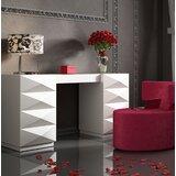 Kirkwood Bedroom Makeup Vanity Set with Mirror by Everly Quinn