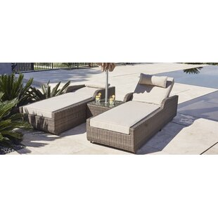 Maurer 3 Piece Sun Lounger Set with Cushions