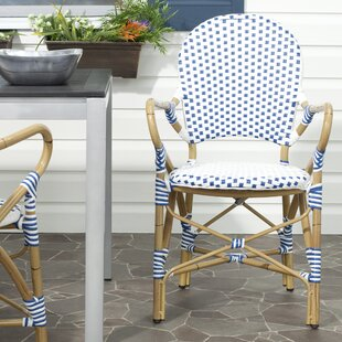 Bay Isle Home Nikolaos Stacking Patio Dining Chair (Set of 2)