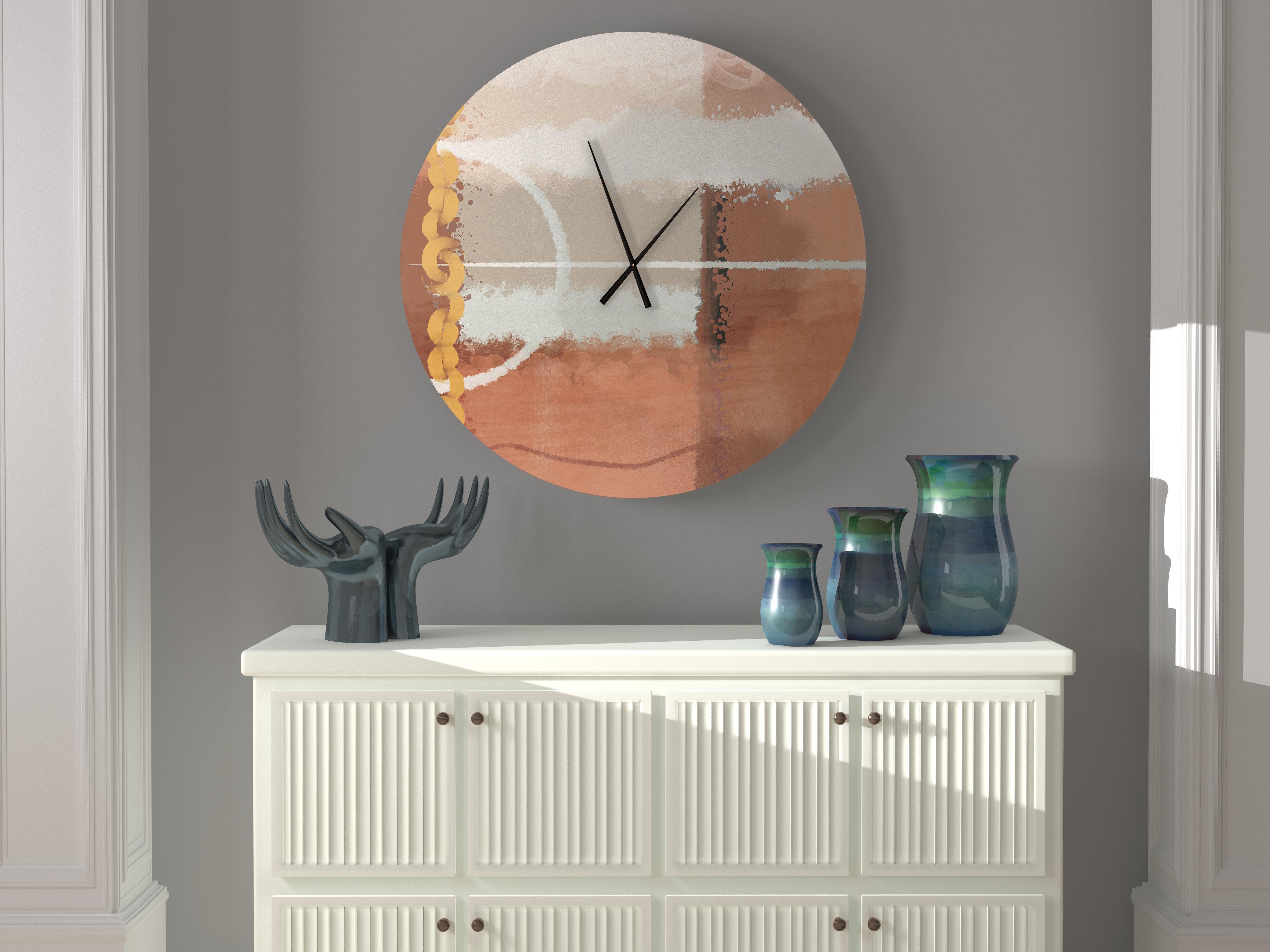 Ebern Designs Autonomous Unsurpassed Abstract Wall Clock Wayfair