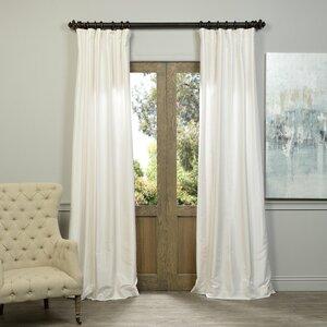 Sagunto Solid Room Darkening Thermal Tab Top Single Curtain Panel