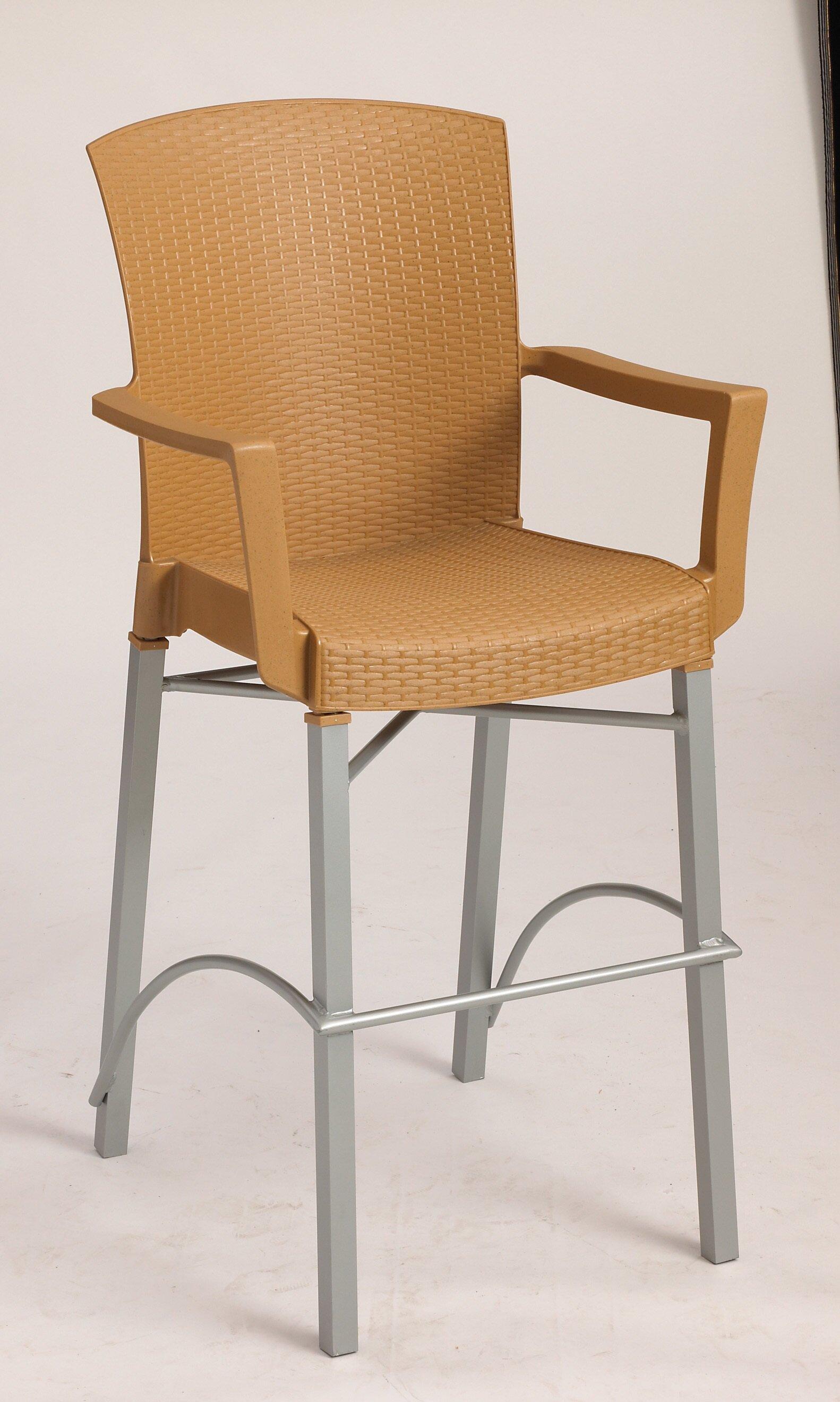 Grosfillex Commercial Resin Furniture Havana 30 Patio Bar Stool Wayfair