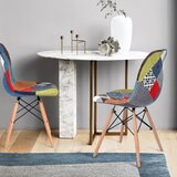 Luciani Linen Upholstered Side in Patchwork (Set of 2) by Brayden Studio®