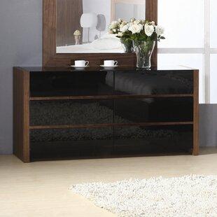 Hokku Designs Metro 6 Drawer Double Dresser Image