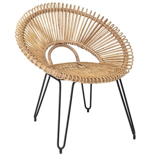 Crissyfield Handwoven Rattan Papasan Chair by Bungalow Rose