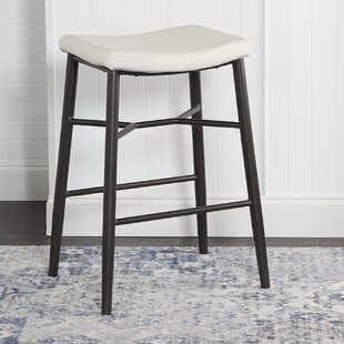 Seidl Saddle Upholstered Stationary Backless 29 Bar Stool by Williston Forge