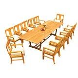 Kevon 13 Piece Teak Dining Set