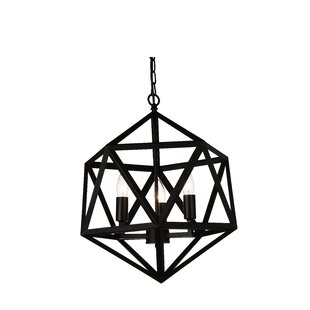 Amazon 3-Light Geometric Chandelier