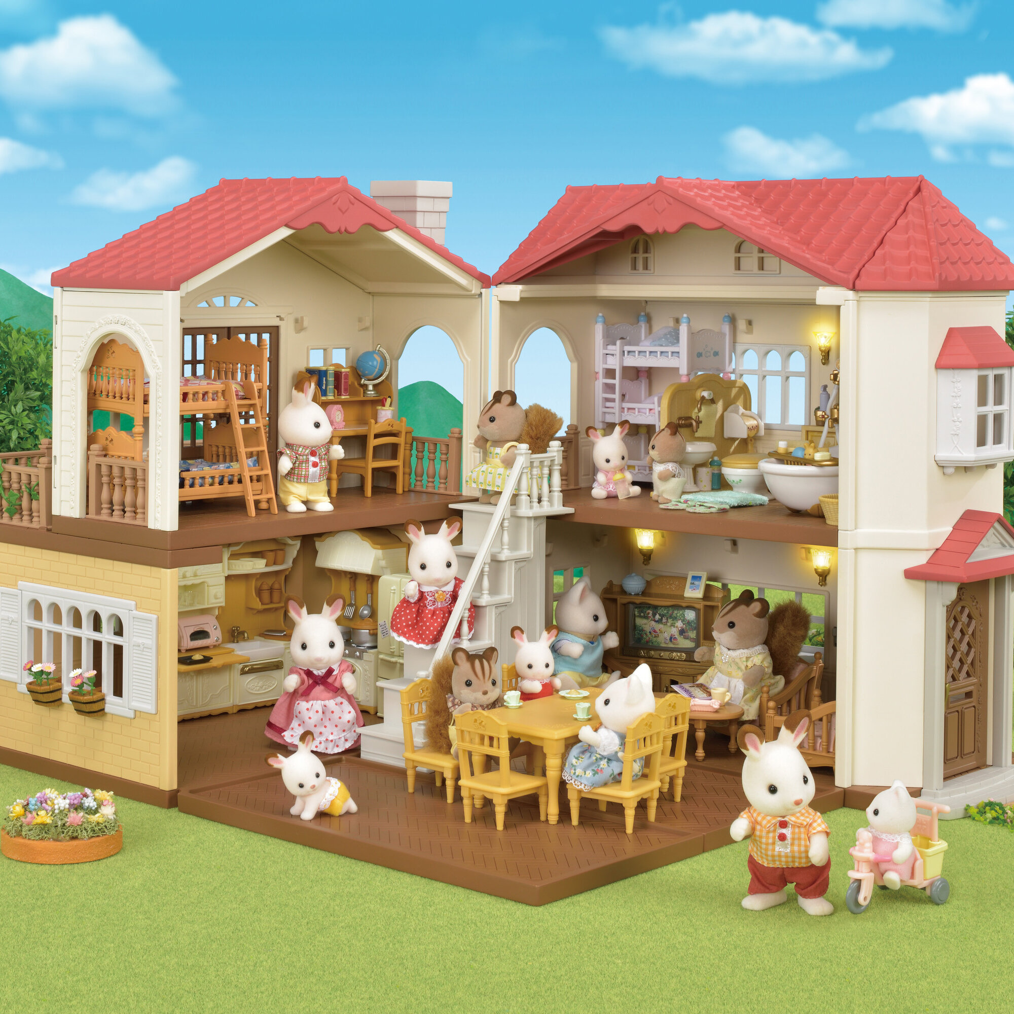 calico critters roof country home dollhouse wayfair roof country home dollhouse