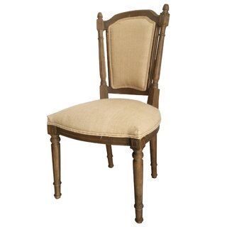 Arlie Upholstered Dining Chairs - Oak, Beige - Set of Two by Charlton Home SKU:AA837971 Order