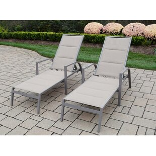 Padded Sling Chaise Lounge (Set Of 2) by Oakland Living Great price