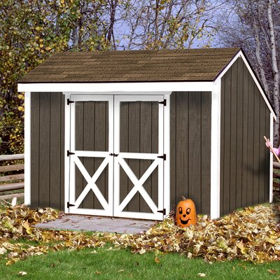 Aspen 12 ft. W x 8 ft. D Solid Wood Storage Shed Best Barns