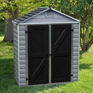 6 Ft. W X 3 Ft. D Apex Plastic Shed By WFX Utility