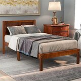 Wood Twin Platform Bed by Winston Porter