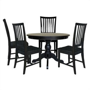 Biermann 5 Piece Solid Wood Dining Set Andover Mills