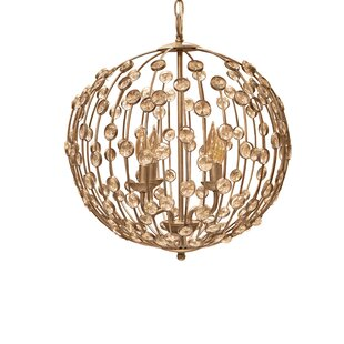House of Hampton Weibel 4-Light Globe Cha..