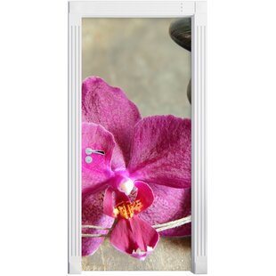 Break Orchid With Zen Stones Door Sticker By East Urban Home