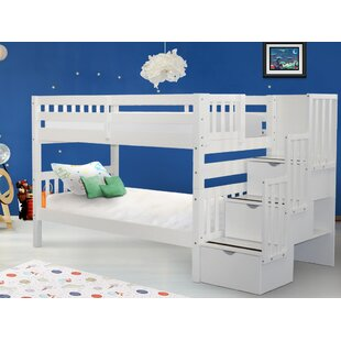 Tena Twin Over Twin Stairway Bunk Bed