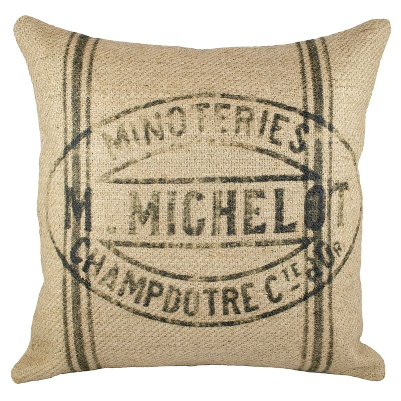Grainsack Burlap Throw Pillow