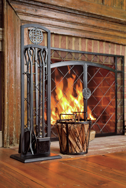 Plow Hearth 4 Piece Steel Fireplace Tools Set Reviews Wayfair
