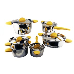 Stacca 11-Piece Non- Stick Stainless Steel Cookware Set