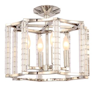Diahann 4-Light Semi-Flush Mount by Willa Arlo Interiors