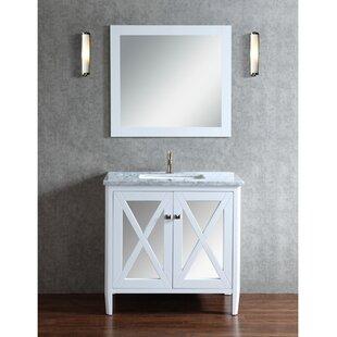 Denker 24 Single Bathroom Vanity Set with Mirror by Brayden Studio