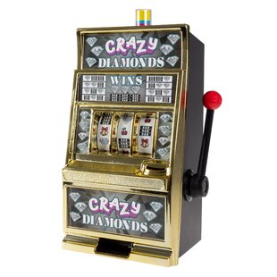 Crazy Diamonds Slot Machine Coin Bank by Trademark Games