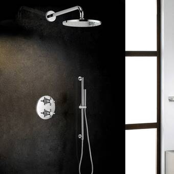 Fontanashowers Thermostatic Complete Shower System With Rough In Valve Wayfair
