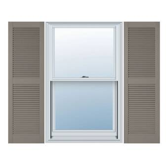 Ekena Millwork Lifetime Vinyl Custom Straight Top All Open Louver Shutters Reviews Wayfair