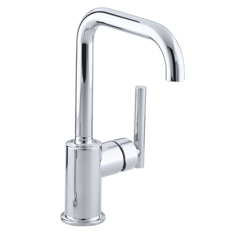 K-7509-BL,CP,SN Kohler Purist Single-Hole Kitchen Sink Faucet with 6 ...