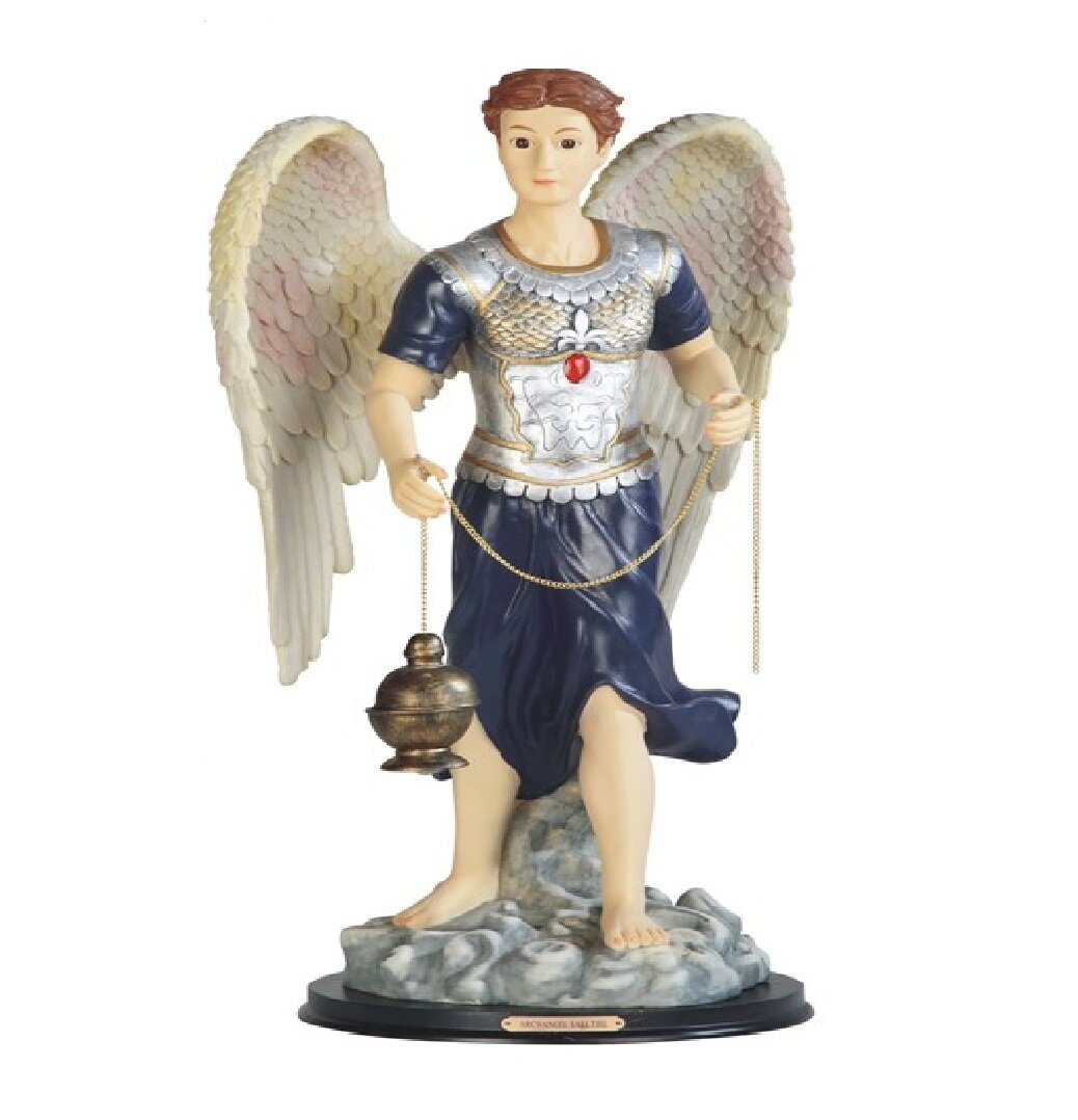 Canora Grey Rearick Archangel Sealtiel Statue Holy Figurine Wayfair