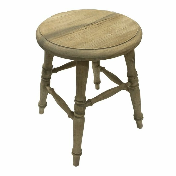 Fenwick Wooden Accent Stool #rusticstool #farmhousedecor