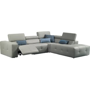 Chase Leather Reclining Sectional