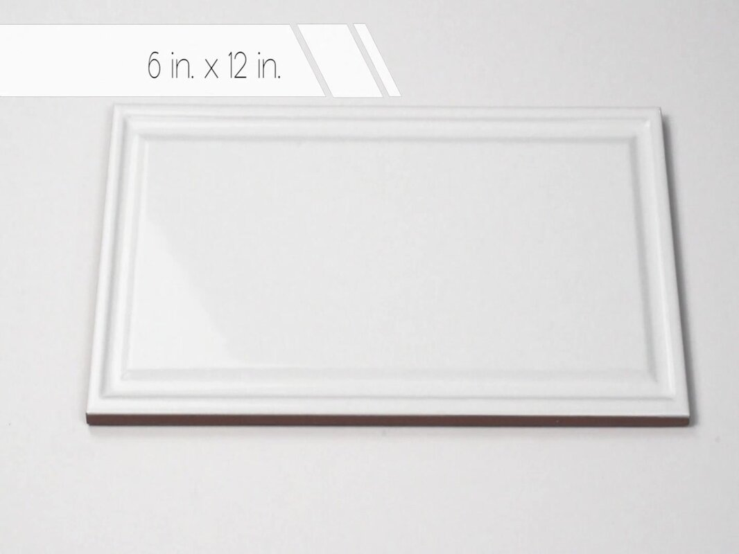 Elitetile linio 6 x 12 ceramic field tile in white reviews wayfair linio 6 x 12 ceramic field tile dailygadgetfo Images