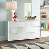 Arnett 6 Drawer Double Dresser by Trule