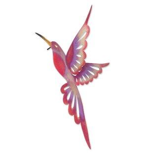Violet Hummingbird Purple Steel Bird Wall Décor