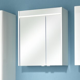 Piolo 60 X 70cm Mirrored Bathroom Cabinet With Integrated Light By Quickset