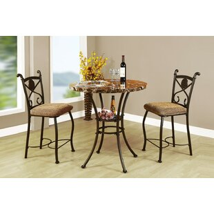 Goshorn 3 Piece Counter Height Dining Set Fleur De Lis Living